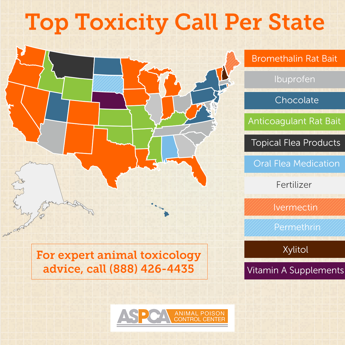 top toxicity calls per state