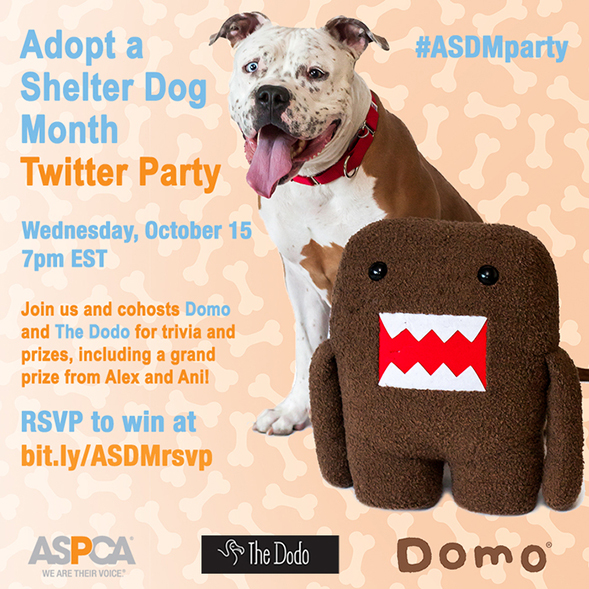 Adopt a Shelter Dog Month Twitter Party – RSVP Today To Win Prizes!