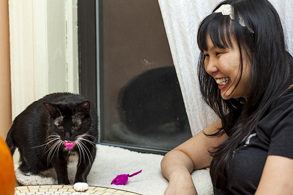 ASPCA Staffer Kelelyn with Basha
