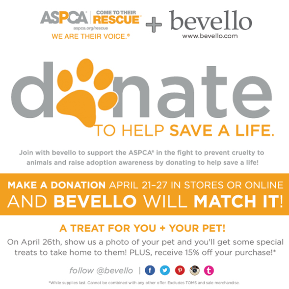 Shopping for a New Spring Wardrobe? Visit Bevello and Support the ASPCA!