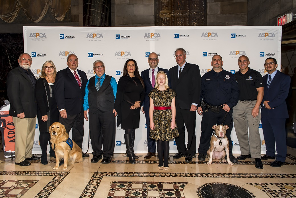 ASPCA President & CEO Matthew Bershadker with award winners