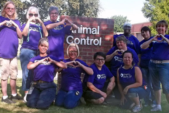 Staff at North Richland Hills Animal Adoption & Rescue Center