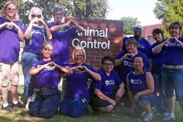 Staff at North Richland Hills Animal Adoption & Rescue Center