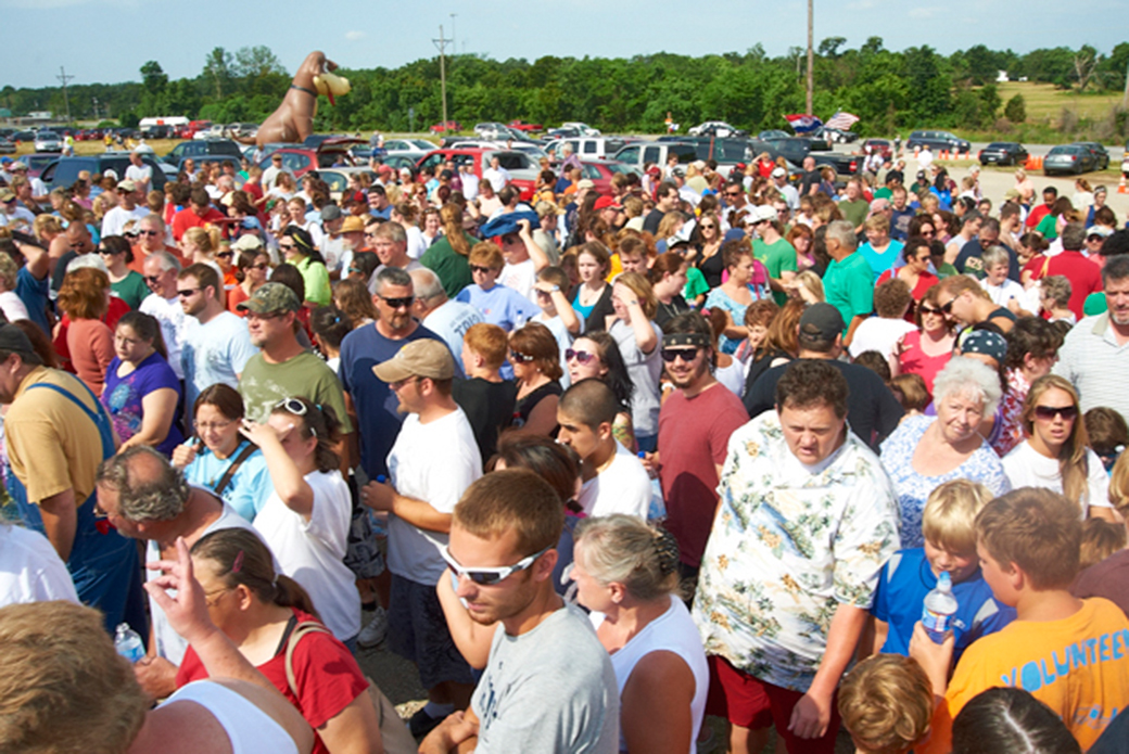 2011: A crowd of thousands from 24 states came to Joplin to adopt animals displaced during the storm.
