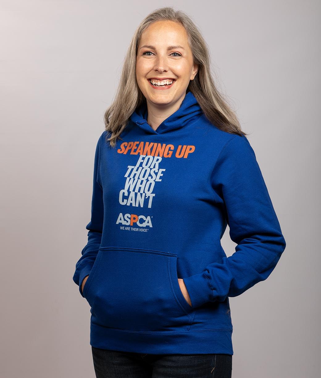 blue aspca hoodie