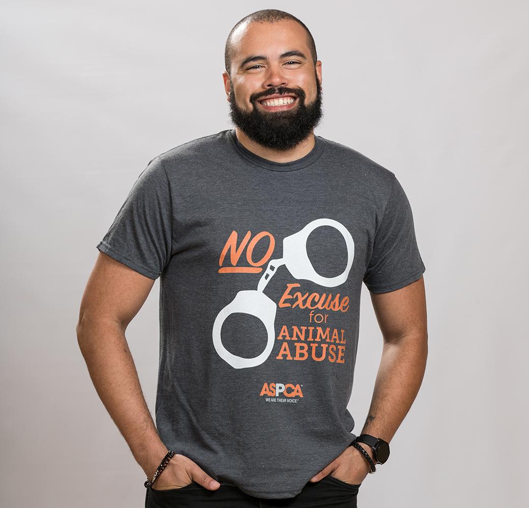 No excuse for animal abuse shirt