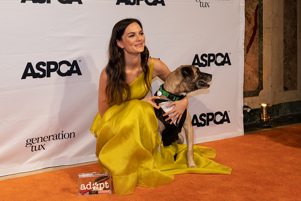 Event Chair Allie Rizzo with Max the dog