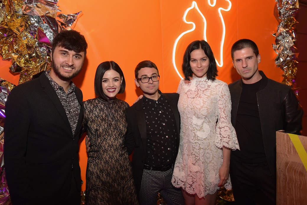 Brad Walsh, Lucy Hale, Christian Siriano, and The Misshapes during the ASPCA's After Dark party.