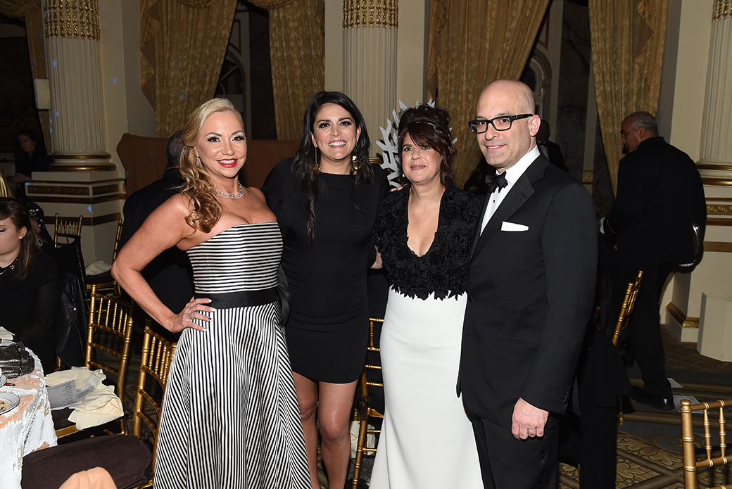 Laura Zambelli Barket, Cecily Strong and Mindy Fortin with ASPCA President & CEO Matt Bershadker