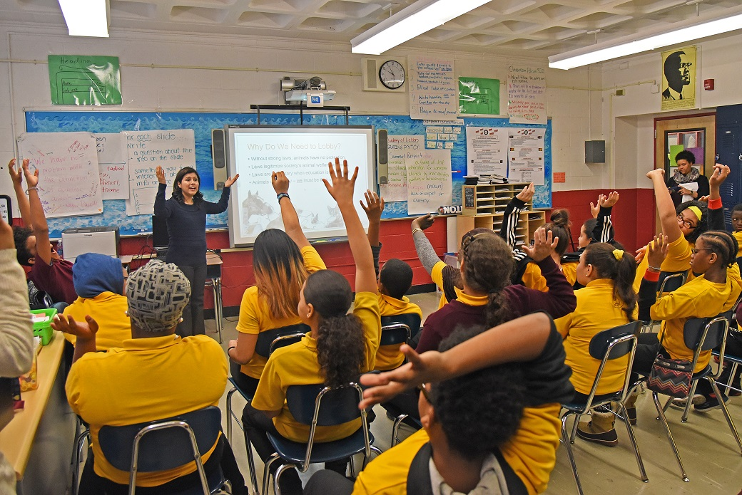 """ASPCA Opens Young Minds at Bronx School s """"Be the Change"""" Week"""