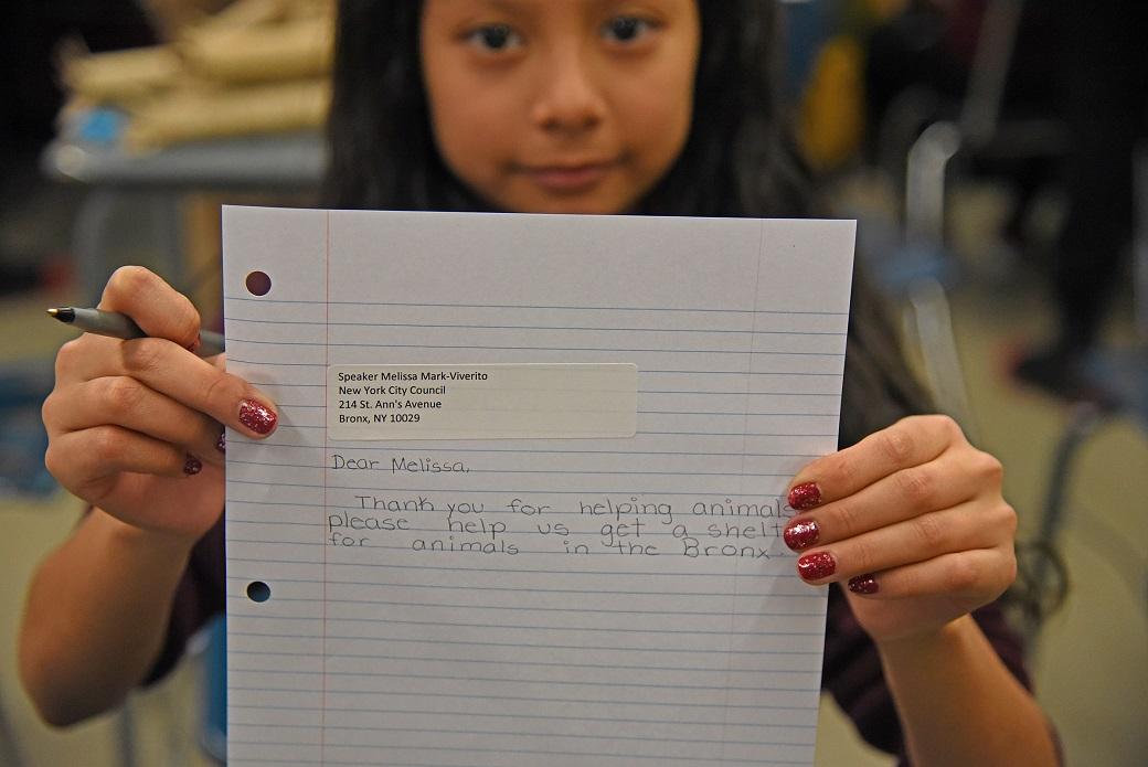 Sixth-grader Miriam Gutierrez