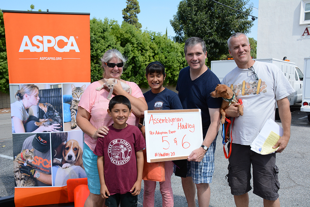 California Assemblyman Hadley Donation Drive and Adoption Event