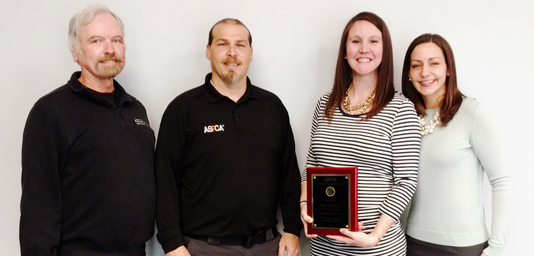 Chief Humane Agent Kerry Manion, ASPCA's Vice President of Field Investigations and Response Tim Rickey, Major Case Agent Elysse Rathbone and Rachel D.K. Finney Executive Director of Capital Area Humane Society.