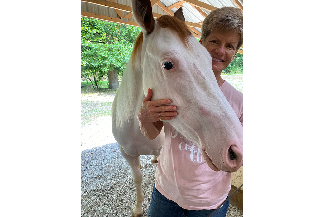 Teri and Ace the horse