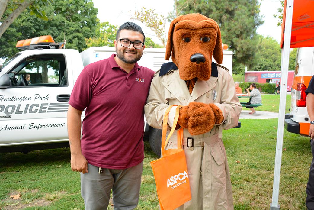 Gerardo Novelo with McGruff the Crime Dog