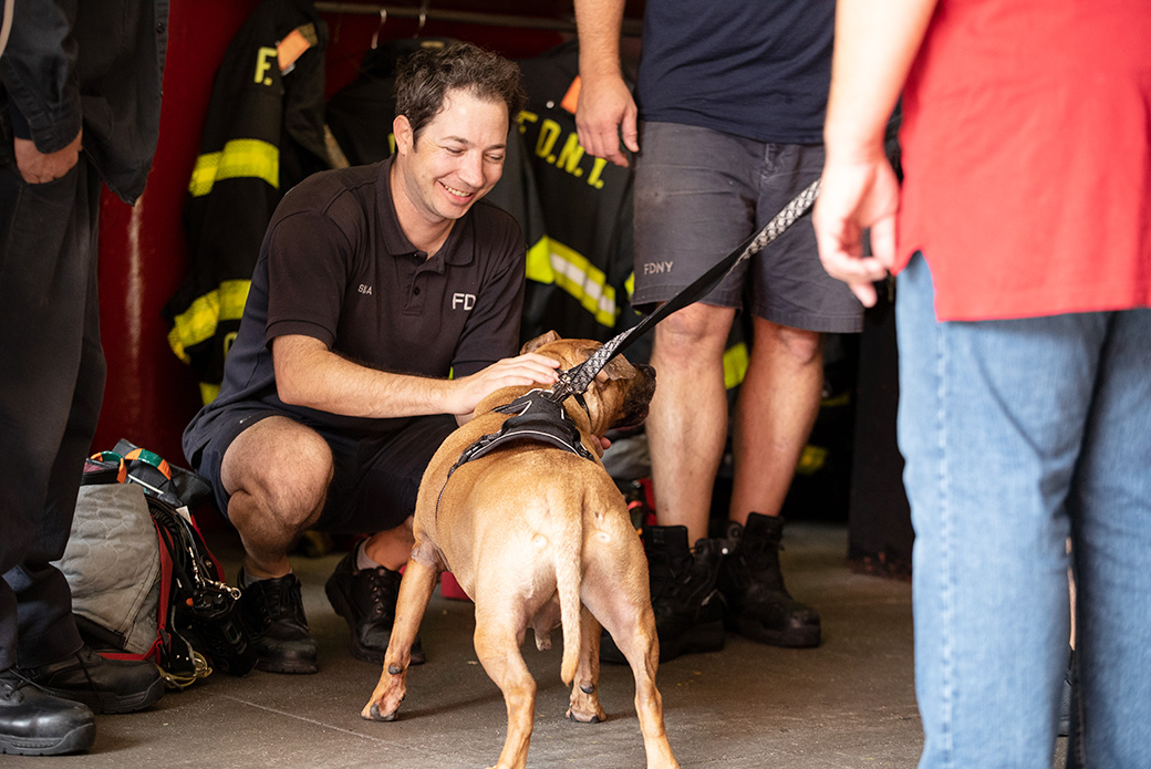 Orson and firefighters
