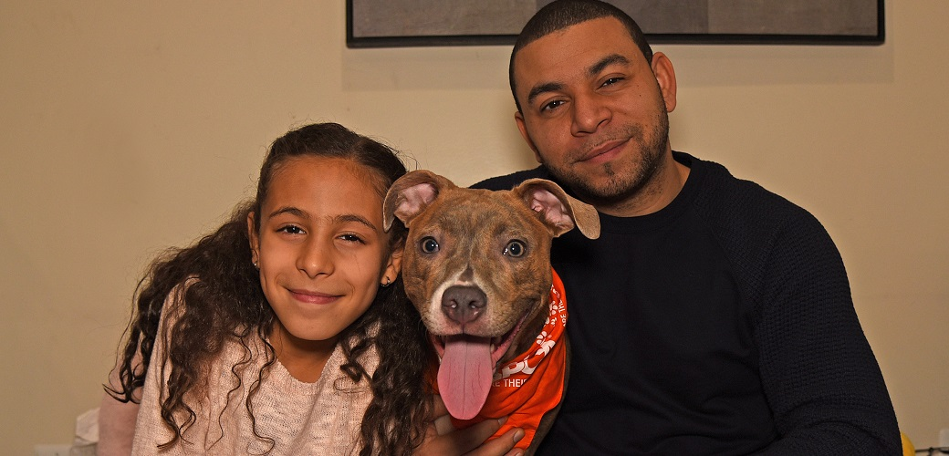 Precious with her new family