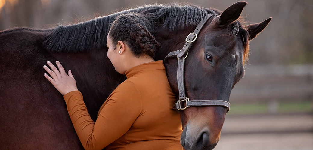 a woman and a horse