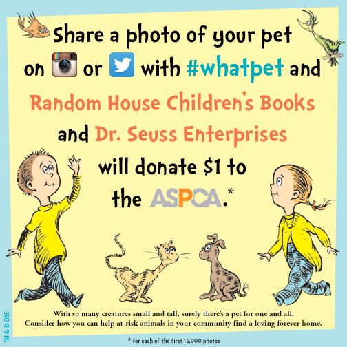 ASPCA Teams Up With Random House, Dr. Seuss Enterprises to Help Animals In Need
