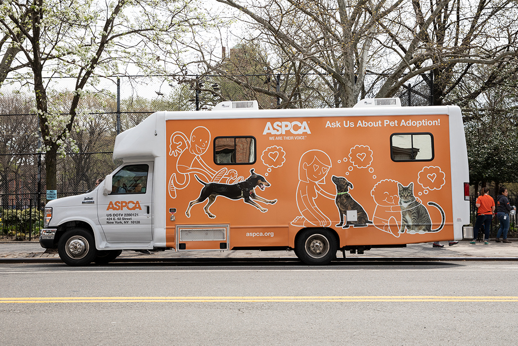 ASPCA mobile adoption van