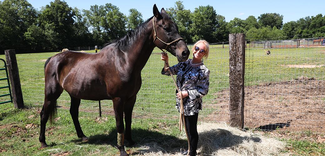 Tanya Tucker and a Horse
