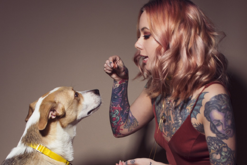 Megan Massacre during her visit to the ASPCA Adoption Center.
