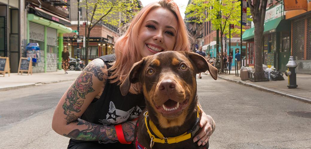 Megan Massacre and a dog