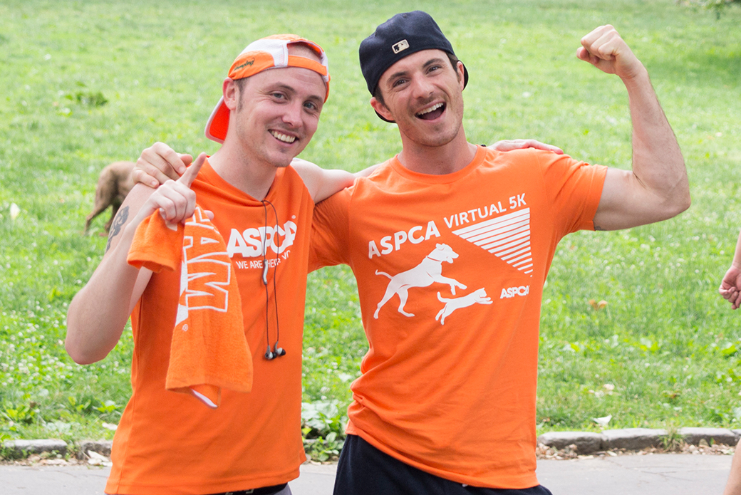 Jeremy and a fellow ASPCA Team member, Aidan, completed their 3.1 miles