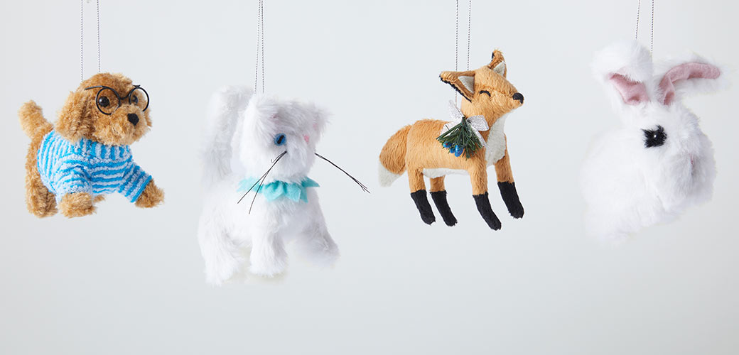 stuffed animal ornaments