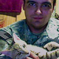 Staff Sgt. Jesse Knott with 2013 Cat of the Year Koshka
