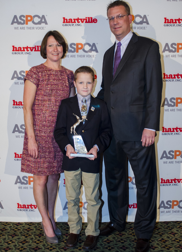 Catherine Hubbard family at Humane Awards Luncheon