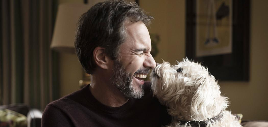 Eric McCormack and his dog Scruffy