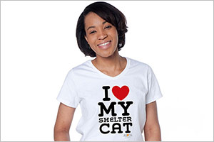 "'I Heart my Shelter Cat"" t-shirt"