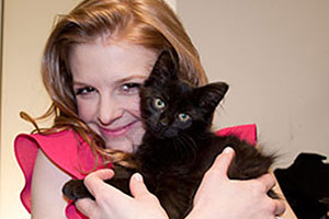 Ashley Bell Visits the ASPCA Adoption Center