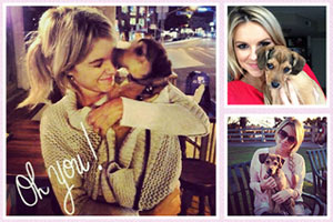 Ali Fedotowsky and her rescue pup Owen