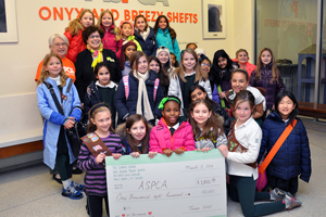 Girl Scout Troop Donates Cookie Proceeds to the ASPCA