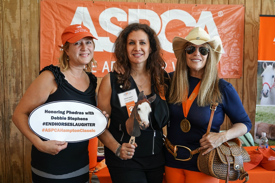The ASPCA's Nancy Perry and Valerie Angeli with Jill Rappaport