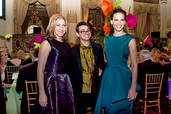 Edie Falco, Christian Siriano and Hilary Swank