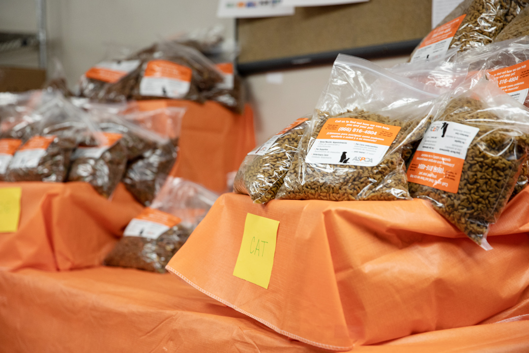 bags of cat food