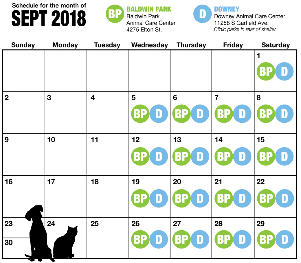 September LA Spay and Neuter