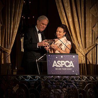 David Patrick Columbia receiving an award
