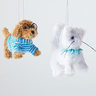 stuffed animal ornaments