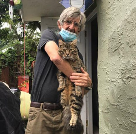 Anthony and his cat