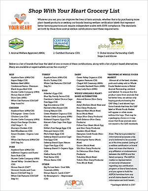 SWYH Grocery List