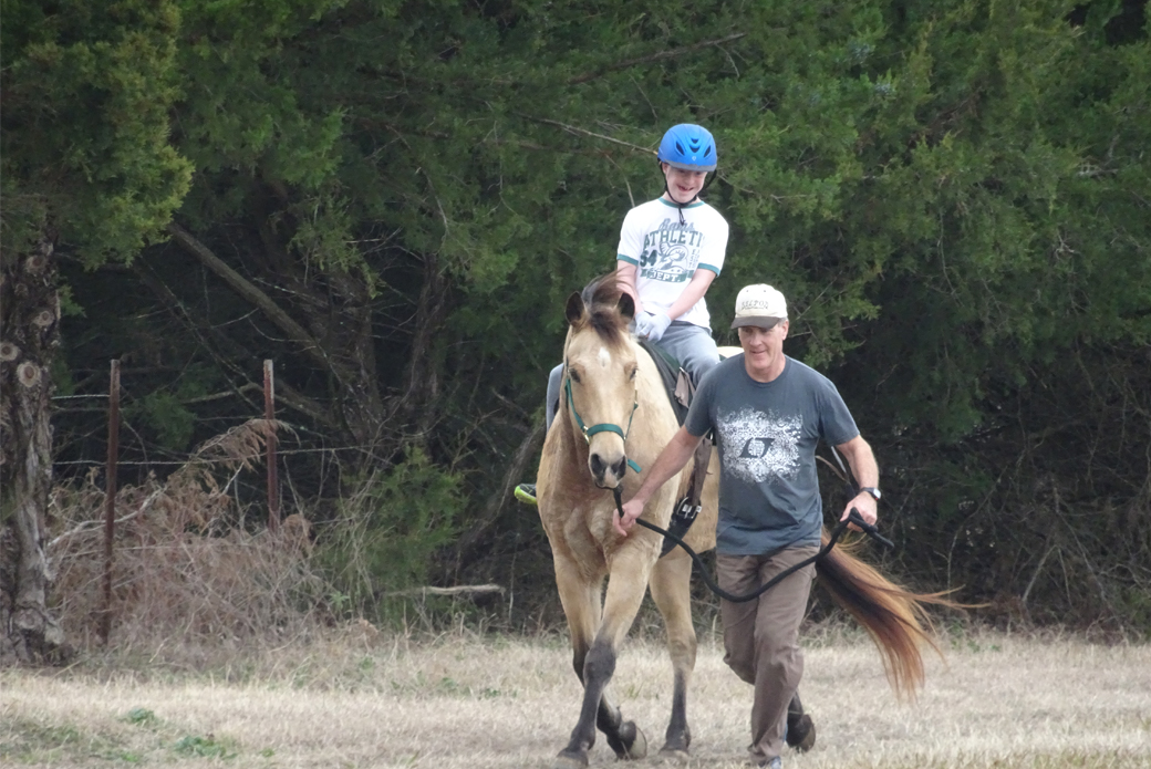 Hayden riding horse